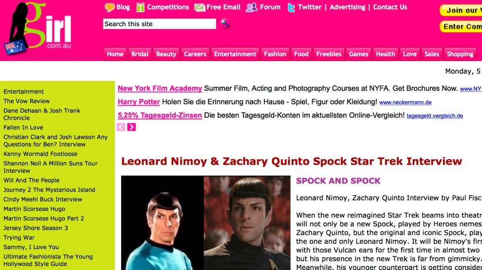Leonard Nimoy & Zachary Quinto Spock Star Trek Interview